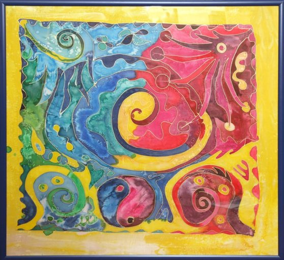 Life Spiral - Silk Painting