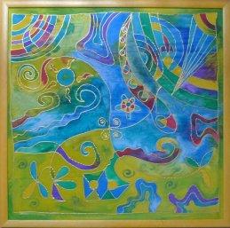 Ocean - Silk Painting