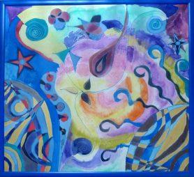 Universe - Silk Painting