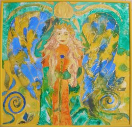 Angel - Silk Painting