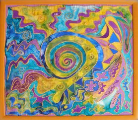 Life Journey - Silk Painting