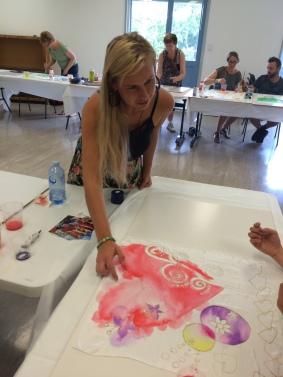 Workshop Painting on silk, Royal Queensland Society, Brisbane